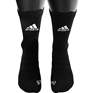 adidas Alphaskin Ultralight Crew Socks (1 Pack), Black, 9.5 12