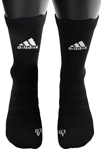 adidas Alphaskin Ultralight Crew Socks (1-Pack), Black, 9.5-12