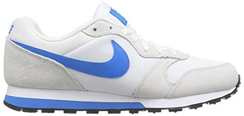 Nike Herren MD Runner 2 Low-Top Sneaker Weiß (Weiß/Blau Lagoon/Cool Grau)