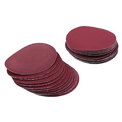 """LANDGOO 100 Pack 3"""" Sanding Discs Hook and Loop Sandpaper Pads 80/100/180/240/600/800/1000/1200/2000/3000 Assorted Grits"""