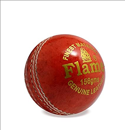 c283275d29b sunley flame cricket leather ball (red)  Amazon.in  Sports
