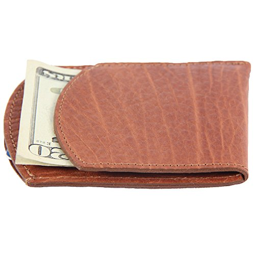 USA Bison Pocket Leather American Buffalo Pockets Two Mens Wallet Front Made q4wxxaz