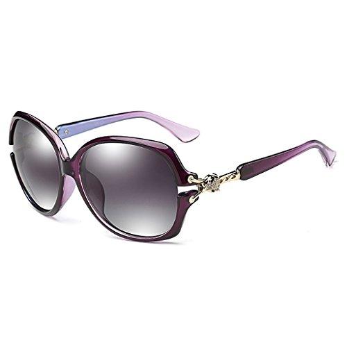 La la polarizó Estilo Color Mujer Las con Vino Gafas Wayfarer Rojo Calle Gafas polarizadas de Moda sol Purple 59mm de EC8q4