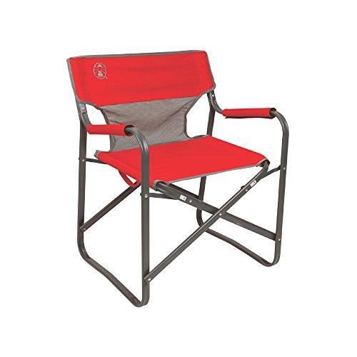 Coleman 2000019421 Chair Steel Deck Red ()