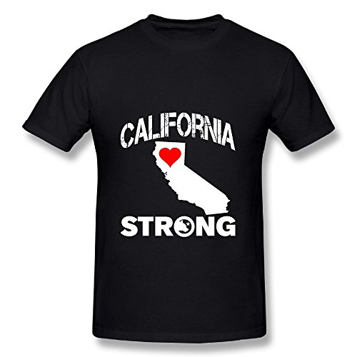 Black Short Sleeve Economy Shirt (California Strong 100% Cotton Short Sleeve Shirts Graphic Tees For Man's)