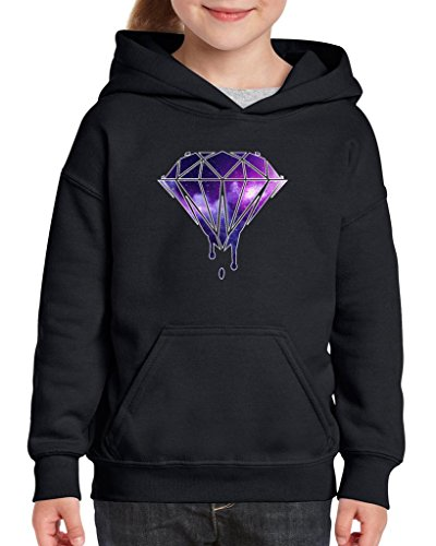 Diamond Swag (Xekia Galaxy Diamond Swag Hip Hop Hoodie For Girls and Boys Youth Kids X-Large Black)