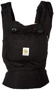 Ergobaby Original Award Winning Ergonomic Multi-Position Baby Carrier with new Lumbar Support, Black/Camel