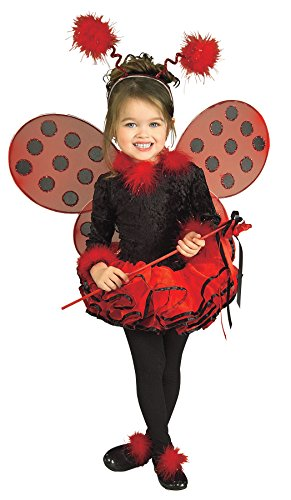 UHC Girl's Lady Bug Toddler Fancy Dress Antlers Wings Accessories Party Costume, 2T-4T