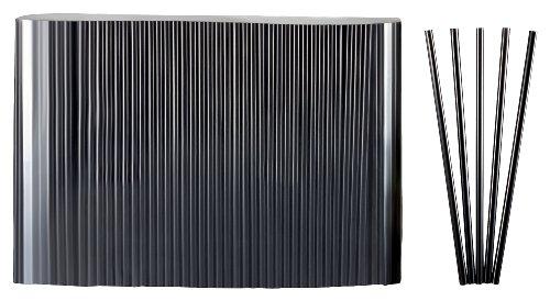 Haushaltsdose Strohhalme, Trinkhalme Jumbo schwarz 500 Stk 25cm lang Durchmesser 8mm