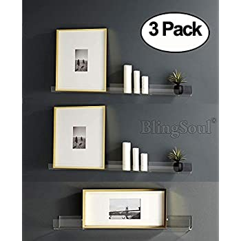 Inches Acrylic Bathroom Shelves Shower Caddy Nail Polish Women Makeup Organizer Spice Rack Kids Room Wall Decor Display Bookshelf Easy To Install