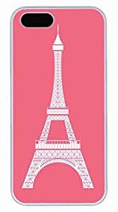 Eiffel Tower Customized Popular DIY Hard Back Case Cover For iPhone 5S White
