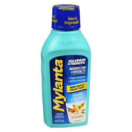 Mylanta Antacid - Mylanta Maximum Strength Liquid Antacid Vanilla - 2PC