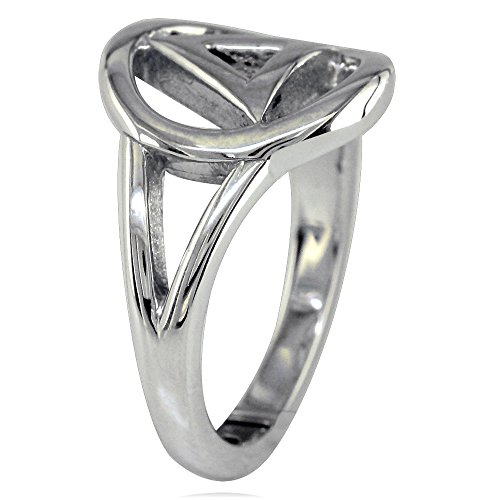 Mens or Ladies Alcoholics Anonymous AA Sobriety Ring in Sterling Silver size 10