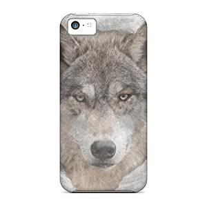 High Quality Shock Absorbing Case For Iphone 5c-wolfmoon