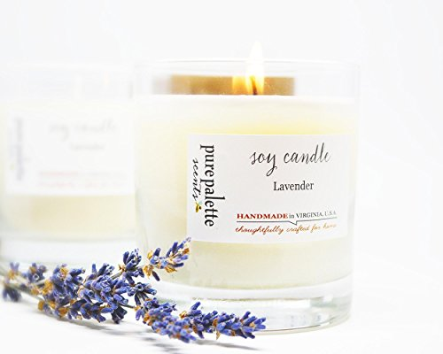 Lavender Spa Natural Soy Candle Handmade in Virginia, U.S.A
