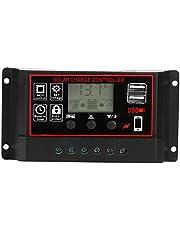 Laadcontroller, 12V 24V fotovoltaïsche zonne-energiemeter Intelligente digitale displaycontroller USB 5V 60A