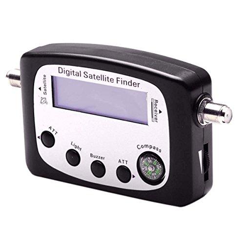 Jrelecs SF-9505A Satellite Mete Digital Satellite Finder / Signal Receiver w/ Compass - Black by jrelecs