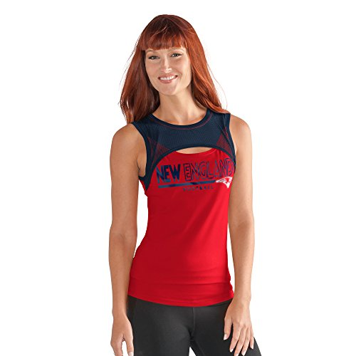 NFL New England Patriots Women's Power Up! Tank, Medium, Red