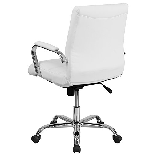 Kenwood LE Mid-Back Leather Executive Swivel Office Chair with Chrome Base and Arms by Kenwood Furnishings (Image #2)