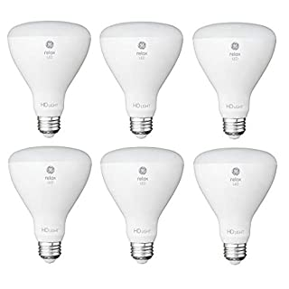 GE Relax 6-Pack 65 W Equivalent Dimmable Soft White Br30 LED Light Fixture Light Bulb