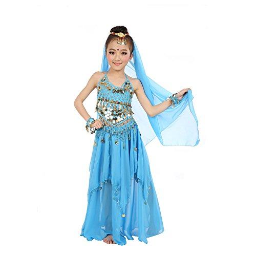 Kid's Belly Dance Costume Girls Halloween Vest Dress