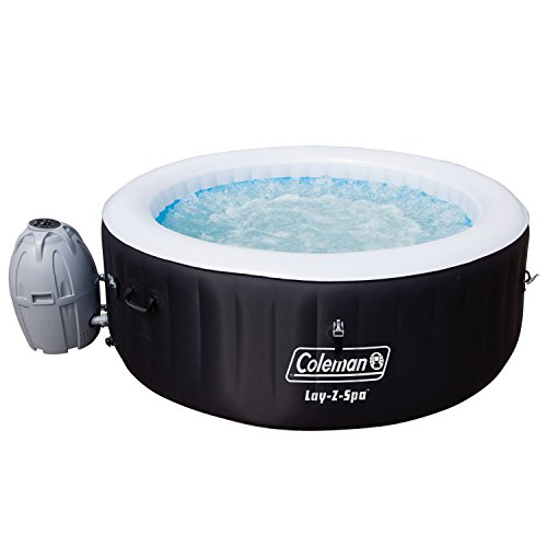 Coleman SaluSpa 4-Person Portable Inflatable Outdoor Spa Hot Tub, Black