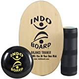 INDO BOARD Original Training Package - Natural Wood Color- A Mini Gym In Your Living Room, Perfect For Anyone Ages 3 To 93. Improves Balance, Stability, Core Strength and Posture All While Having Fun