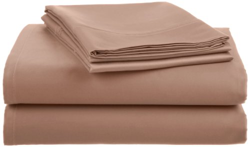 Crowning Touch 500 Thread Count Wrinkle-Resistant Cotton Sheet Set, Queen, Linen