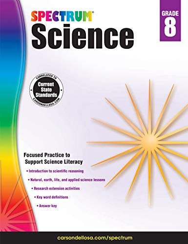Carson-Dellosa Spectrum Science Workbook, Grade 8