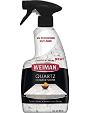 Weiman 330 Quartz Countertop Cleaner and Polish - 16 Ounce - UV Protection for Countertops Islands and Stone Surfaces