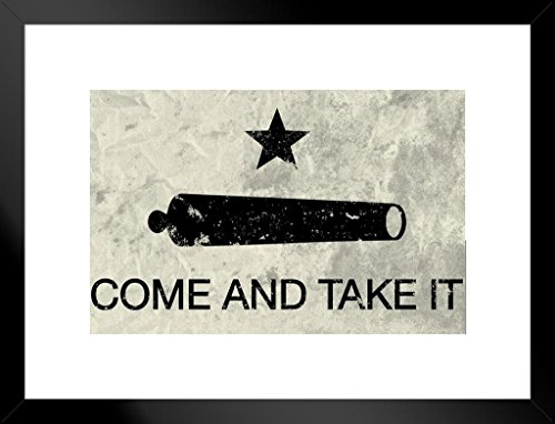 Poster Foundry Come and Take It Flag Matted Framed Wall Art Print 20x26 inch ()