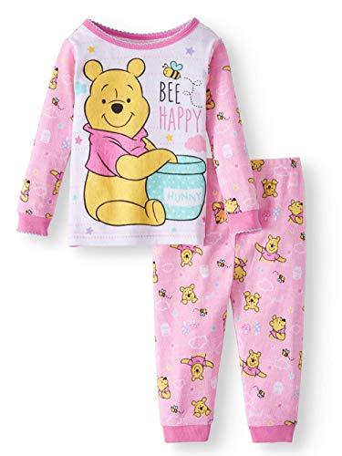 (Disney Winnie The Pooh Bee Happy 2 Piece Sleepwear Pajama Set (12)