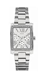 Guess W0446L1 Multifunction Silver Tone Crystal Womens Ladies Watch