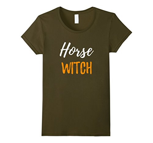 Rider Costume Horse Halloween And Ideas (Womens Horse Witch T-Shirt Funny Horse Lovers Halloween Gift Small)