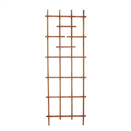 "Panacea 82426 72"" Brown Wood Ladder Trellis"