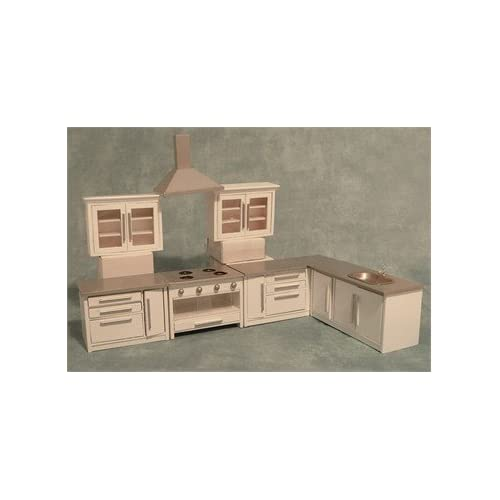 1:12 Scale Dolls House Miniatures Modern White Kitchen Set DF977