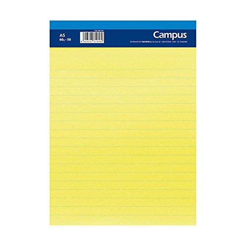 6/x Blocco notes Quadretti A5/50/fogli 60/gr a righe orizzontale carta giallo