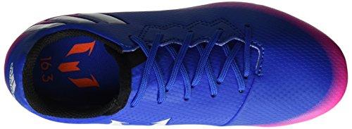 adidas Messi 16.3 FG J, Botas de Fútbol Niños Azul (Blue/footwear White/solar Orange)