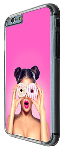 869 - Fahion Girl Doghnut Eye Fun Design iphone 6 6S 4.7'' Coque Fashion Trend Case Coque Protection Cover plastique et métal