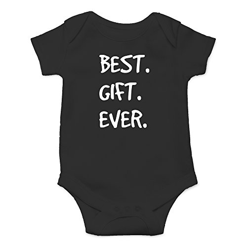 Crazy Bros Tees Best. Gift. Ever Funny Cute Novelty Christmas Infant One-Piece Baby Bodysuit (Newborn, Black) (Gifts Christmas Bros For)