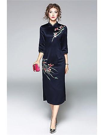 Amazon.com : JIALELE Dress Vintage, Dress Plus Size, Dress 12 WomenS Dress, Embroidered 3/4 Length Sleeves Micro-Elastic : Sports & Outdoors