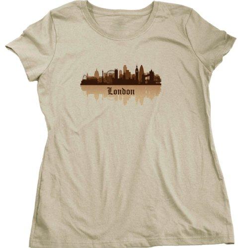 London, England City Skyline Ladies Cut T-shirt Londoner British UK Pride Tee