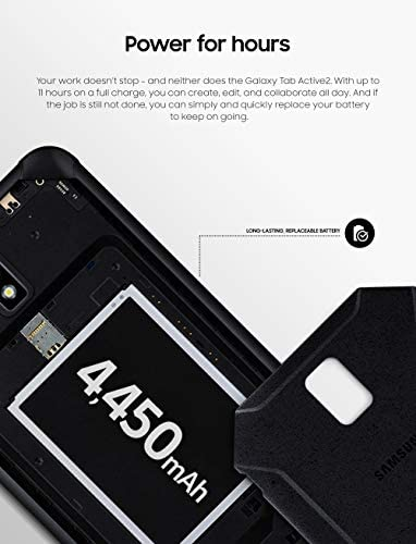 "Samsung Unlocked Galaxy Tab Active2 Water-Resistant 8"" Rugged Tablet |16GB & LTE | Biometric Security (SM-T397UZKAXAA), Black 41PbxJ7msxL"