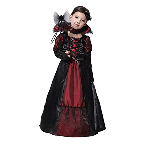 Jimall Girls Halloween Vampire Costumes Cosplay Party Performance Fanny Dress 4-6 Years