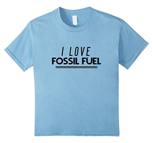 Kids I love fossil fuel t-shirt 10 Baby Blue (Fossil Mens Clothes)