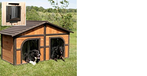 Solid Wood Construction Heated Extra Large Dog House for One or Two Dogs Review