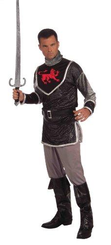 Forum Sir Lancelot Du Lac Complete Costume, Silver, Standard