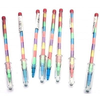 20 Crayons avec 11 échange Points Crayon Multicolore Crayon Fourniture ensembles Pochette surprise