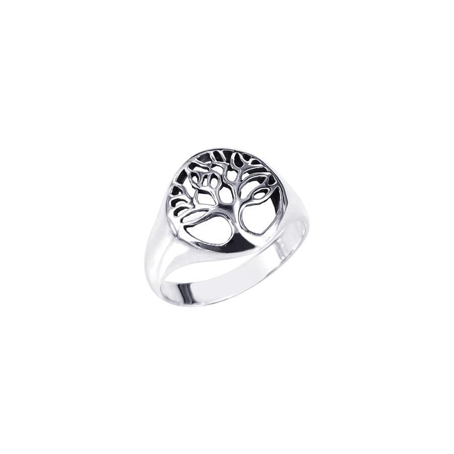 AeraVida Flourishing Tree of Life .925 Sterling Silver Ring