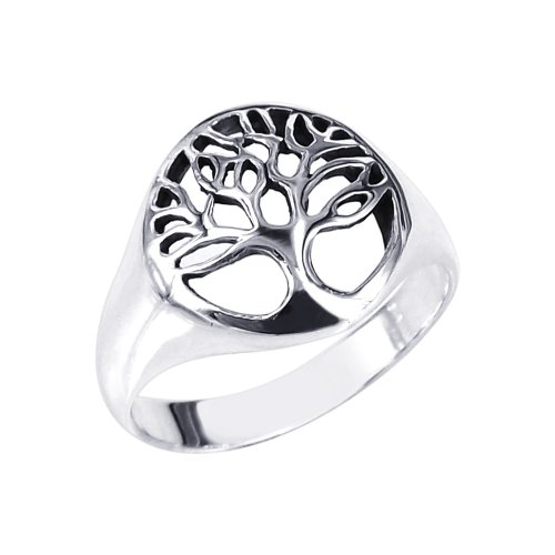 AeraVida Flourishing Tree of Life .925 Sterling Silver Ring